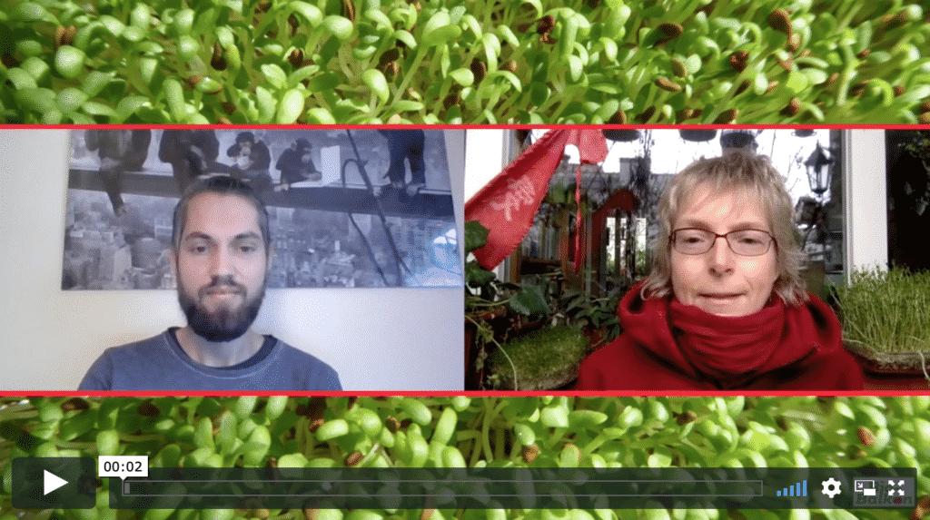 Tolles Interview über die Anzucht von Sprossen und Microgreens. Mit 10 % Rabatt-Code.