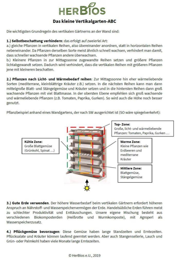 Hier siehst Du eine Anleitung für das vertikale ganzjährige Gärtnern mit Vertikalgarten für Balkon, Terrasse und Dachgarten.
