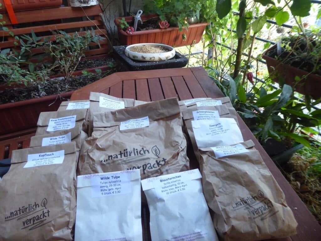 Im Oktober ist Zeit, Zwiebelblumen für die Frühblüher zu stecken. Hier habe ich bei der Kräuter- und Duftpflanzengärtnerei Syringa tolle Frühblüher-Zwiebeln bestellt.