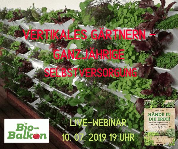 Hier gibt es einen Live-Workshop mit Dr. Jürgen Herler von HerbiosGarden zur ganzjährigen Selbstversorgung durch vertikales Gärtnern zum Anhören.
