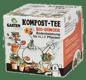 Komposttee ist eine einfache preiswerte Variante, den Boden zu beleben. Dazu wirkt er düngend. Einsatz beim Gärtnern auf Balkon, im Garten und bei Zimmerpflanzen.