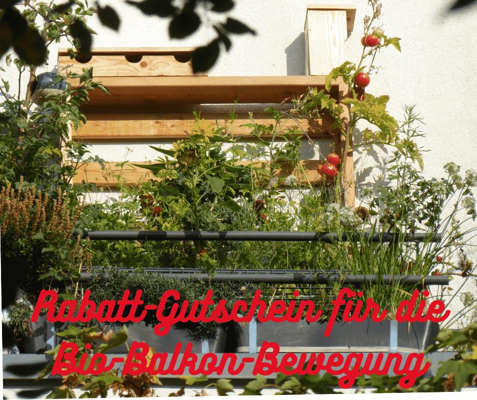 Tolles Vertikalbeet für die ganzjährige Selbstversorgung in der Stadt auf dem Balkon