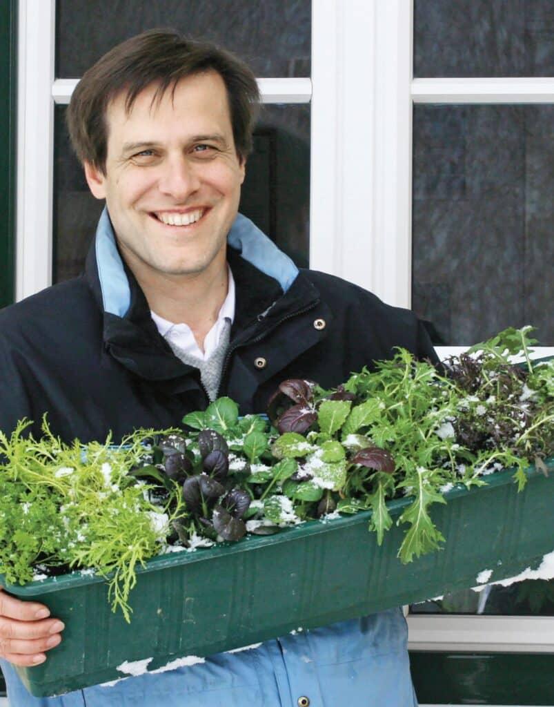 Wolfgang Palme ist der Experte für den Anbau von Wintergemüse auf Balkon, Terrasse und im Garten.